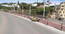 Upadek Haytera na 4. etapie Volta ao Algarve