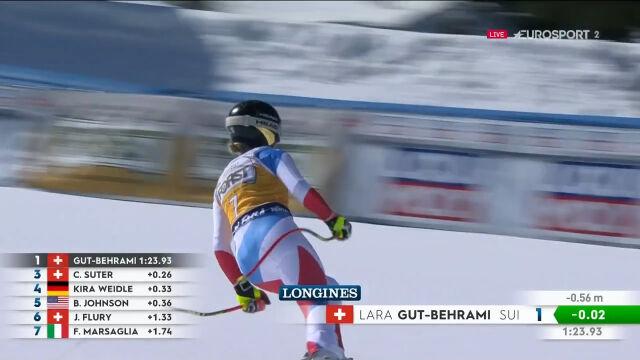 Gut-Behrami wygrała piątkowy zjazd w Val di Fassa