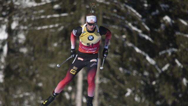 Norwescy biathloniści się doczekali. Mają pierwszą wygraną w sztafecie