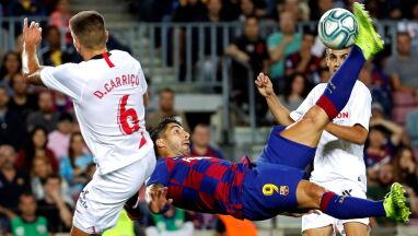 Barcelona kończyła w dziewiątkę. Wcześniej zdemolowała Sevillę