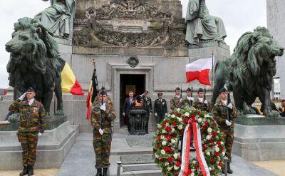 Andrzej Duda złożyli wieniec pod Grobem Nieznanego Żołnierza w Belgii