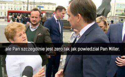 Konfrontacja Zbigniewa Ziobry i mieszkanki Sosnowca