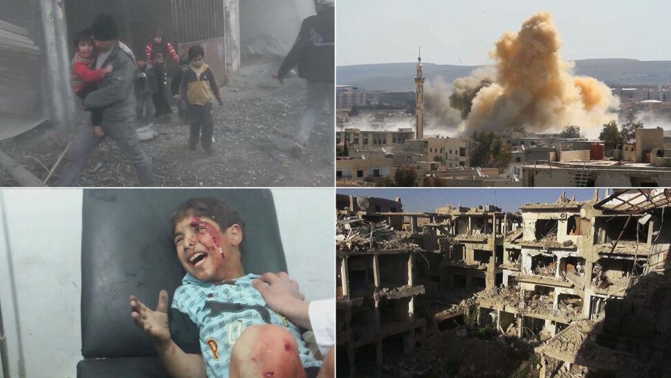 """""""Zrzucają setki bomb każdego dnia"""". Niepublikowane nagrania z oblężonego miasta"""