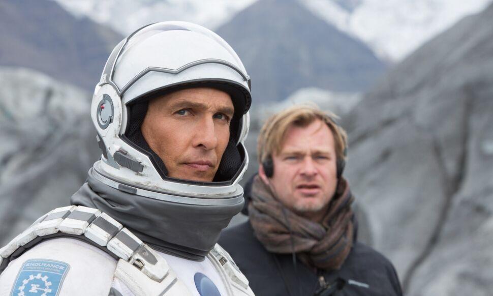 "Matthew McConaughey i Christopher Nolan na planie ""Interstellar"""