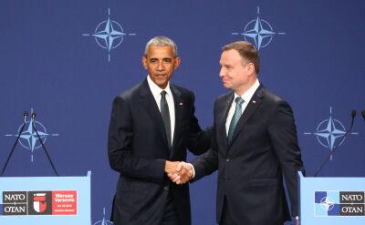 Cała konferencja prasowa Baracka Obamy i Andrzeja Dudy