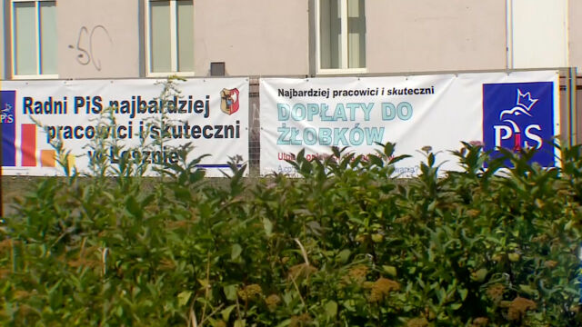 """There are no rules, PiS posters are already hanging. """"there ="""" """"usually ="""" """"such ="""" """"banners ="""" """"s ="""" """"hung ="""""""