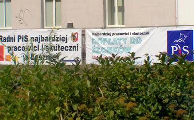 160 banerów wyborczych PiSu zawisło w Lesznie