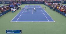 Szalona akcja przy siatce w meczu Hurkacz/Walków – Cabal/Farah w 1. rundzie US Open