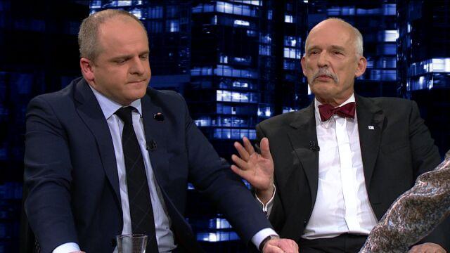 """Paweł Kowal i Janusz Korwin Mikke byli gośćmi """"Kropki nad i"""""""