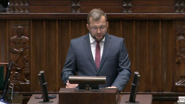 Grzegorz Puda w debacie nad wnioskiem o jego odwołanie