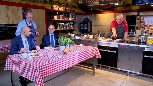 O włoskiej kuchni i polityce w studiu TVN24 BIS