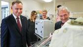 Para prezydencka odwiedziła sześcioraczki i ich rodziców w krakowskim szpitalu