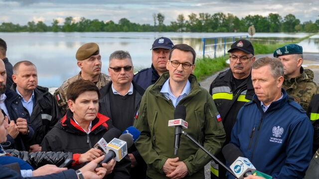 """Po ulewach na południu Polski. Premier zapowiada """"sprawne szacowanie szkód"""""""