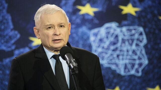 Jarosław Kaczyński na spotkaniu wyborczym w Rykach