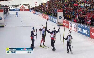 Norwegia wygrała sztafetę mieszaną w MŚ w Anterselvie