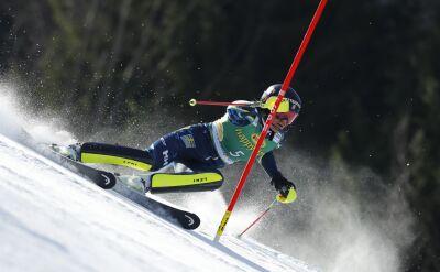 Swenn Larsson liderką po 1. przejeździe slalomu w Kranjskiej Gorze