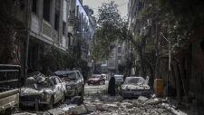 Na oblężone miasta ciągle spadają bomby