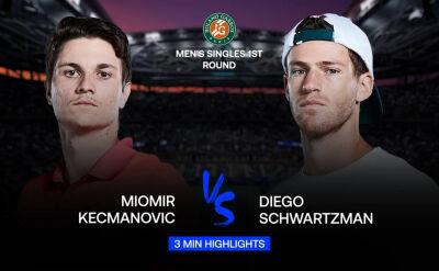 Skrót meczu Kecmanović - Schwartzman w 1. rundzie Roland Garros