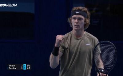 Rublow pokonał Thiema w fazie grupowej ATP Finals