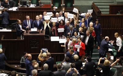 Kary finansowe dla protestujących posłów PO