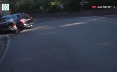 Skandal na trasie Il Lombardia. Schachmann uderzył w prywatny samochód