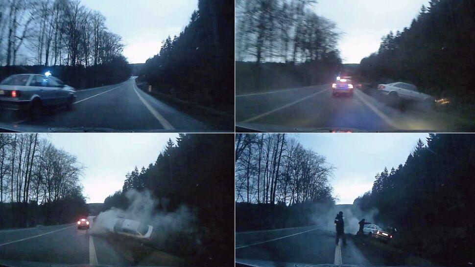 Czescy policjanci się nie patyczkują. Ucieczka Polaka skradzionym autem zakończyła się w rowie