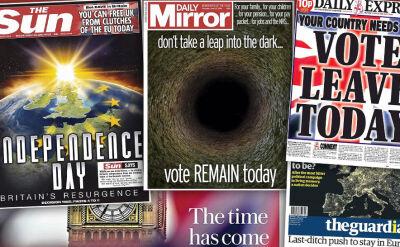 """""""Nie róbcie skoku w ciemność"""" vs. """"Dzień niepodległości"""". Brytyjskie media o Brexicie"""