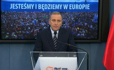 Schetyna: oczekuję od premier informacji co do przyszłości Polski w UE