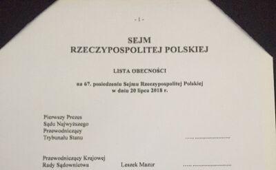 Kancelaria Sejmu nie uznaje Małgorzaty Gersdorf