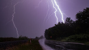 Three people in hospital after a lightning struck at a fairground in south Poland
