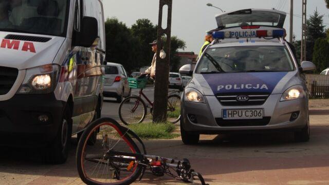 Policjant potrącił rowerzystę. Radiowozem