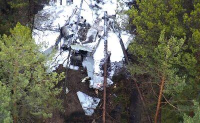 Wypadek myśliwca. Maszyna spadła w las