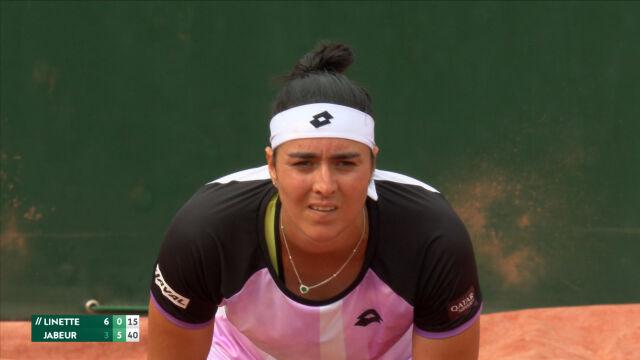 Jabeur wygrała 2. seta w starciu z Linette w 3. rundzie French Open