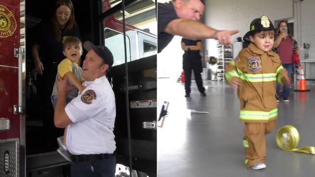 Jak pięciolatek został strażakiem