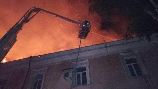 Pożar w szpitalu wojskowym.
