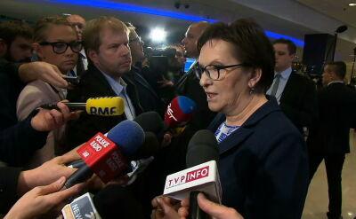 """Kopacz nie będzie kandydować na szefa partii. """"Moim celem było utrzymać jedność PO"""""""