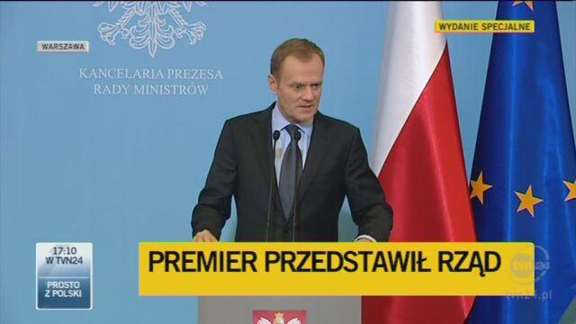 Tusk o stanowisku Julii Pitery (TVN24)