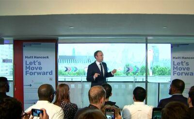 Matt Hancock był kandydatem na objęcie stanowiska lidera Partii Konserwatywnej