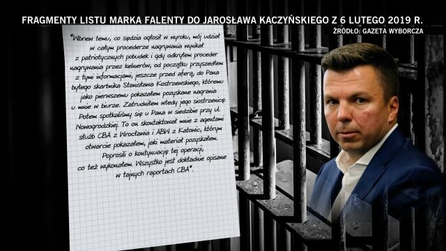 Fragmenty listu Falenty do Kaczyńskiego. Pierwsza część