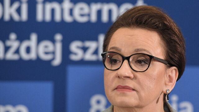 Zalewska: nie ma żadnych list imiennych z PESEL-ami