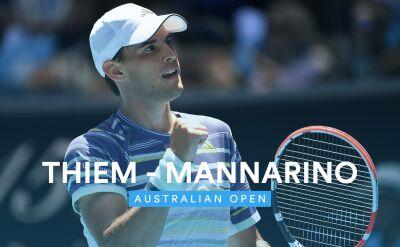 Skrót meczu Thiem - Mannarino w 1. rundzie Australian Open