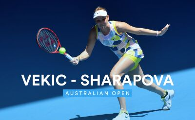Skrót meczu Vekić - Szarapowa w 1. rundzie Australian Open