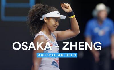 Skrót meczu Osaka - Zheng w 2. rundzie Australian Open