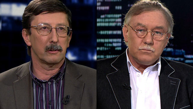 """Prof. Jan Żaryn i prof. Ireneusz Krzemiński w """"Kropce nad i"""""""