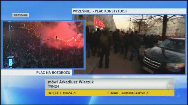 Reporter TVN24 - podpalili samochód TVN24 (TVN24)