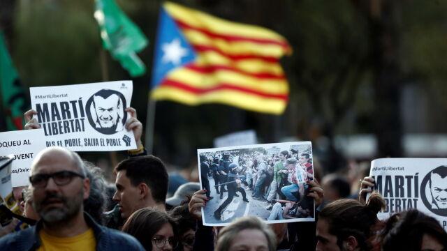 Manifestanci w Katalonii znów wyszli na ulice