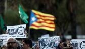Manifestacje separatystów na ulicach Katalonii