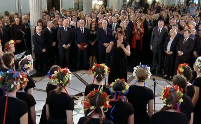 Występ chóru Alla Polacca na wręczeniu zaświadczeń o wyborze do Sejmu