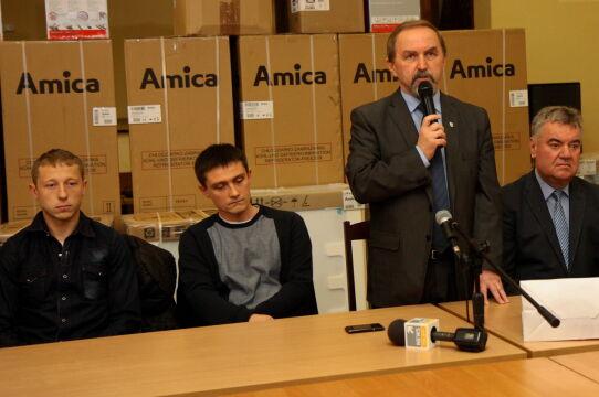 Wójt gminy Przygodzice Krzysztof Rasiak dziękuje za pomoc