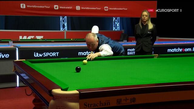 Cały brejk maksymalny Higginsa w meczu 1. rundy British Open